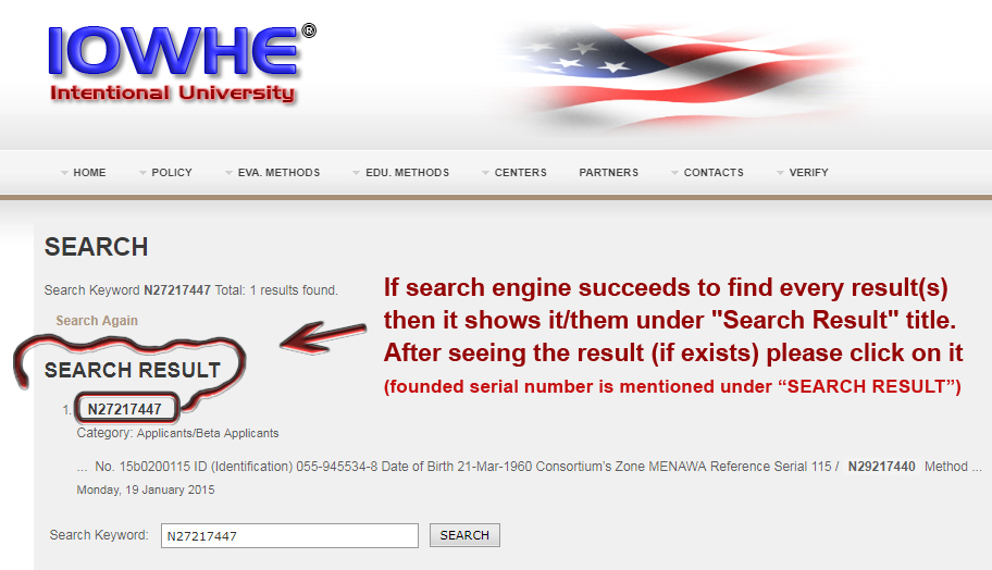 A brief explanation for obtaining search results ...